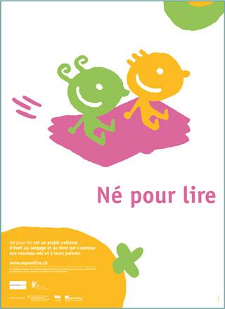 Poster Nati per leggere in francese